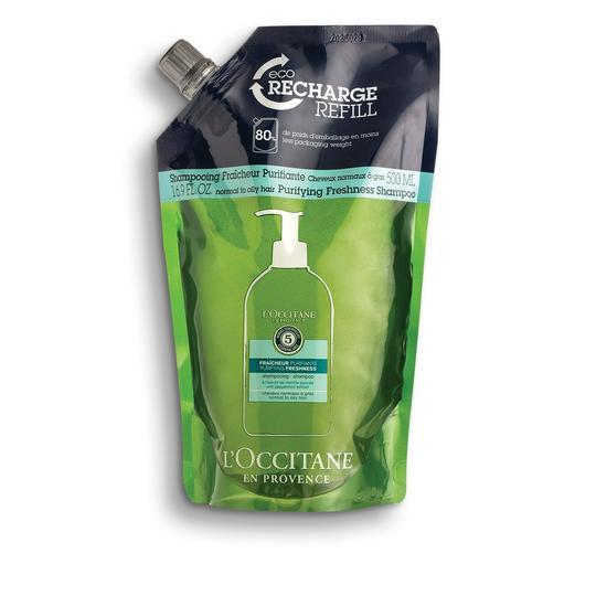L'occitane Aromachology Purifying Freshness Shampoo - Aromakoloji Canlandırıcı Ferahlatıcı Şampuan - Ekolojik & Ekonomik Yedek