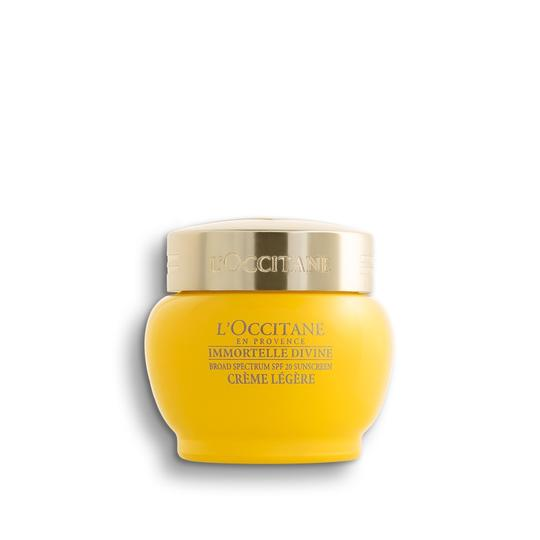 L'occitane Immortelle Divine Cream Light Texture SPF 20 - Immortelle Divine Krem SPF 20