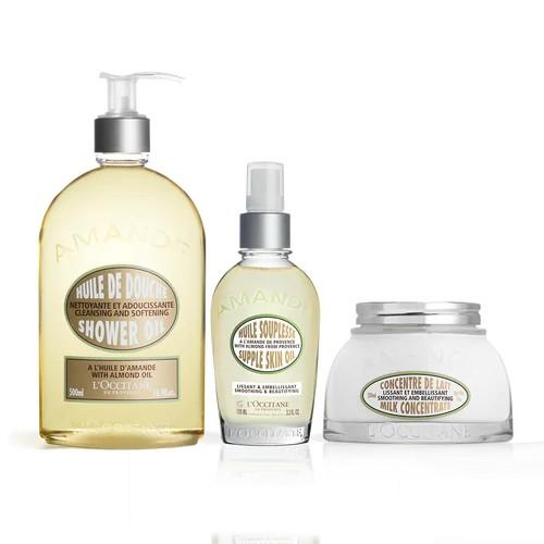 L'occitane Almond Body Care Trio - Badem 3'lü Vücut Seti