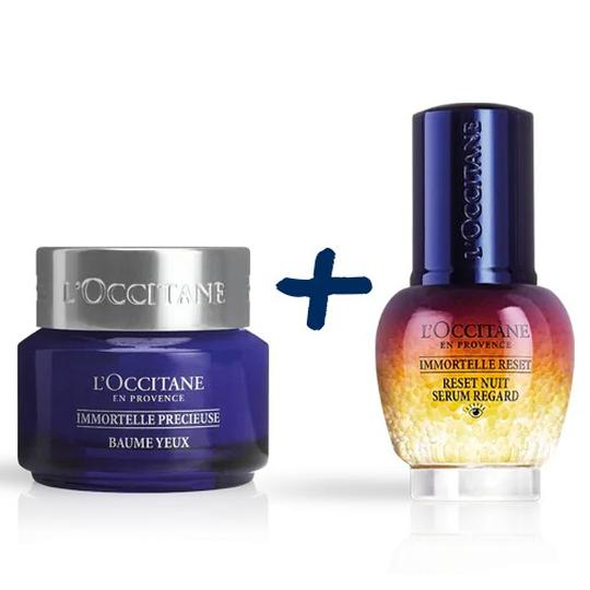 L'occitane Immortelle Precious Eye Balm + Overnight Reset Eye Serum