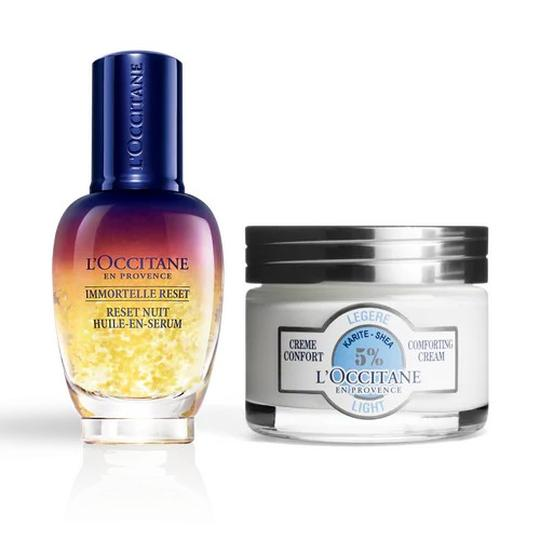 L'occitane Shea Light Overnight Reset Duo - Shea Light Reset İkilisi